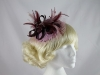  Burgundy and Pink Fascinator
